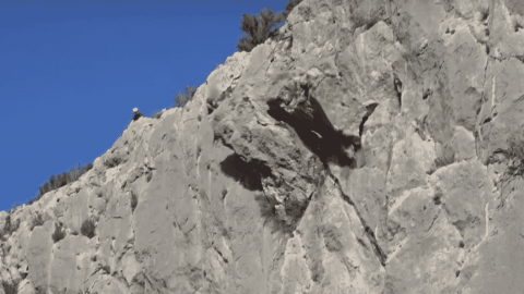 VIDEO: Climber Pulls Massive Chunk Of Rock From Mountain, Sends It Crashing Below