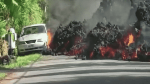 Molten Lava Swallows A Mustang As The Destruction Continues In Hawaii
