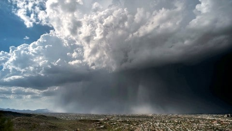 VIDEO: Time-Lapse Offers Incredible Look At A Rain Bomb In Action