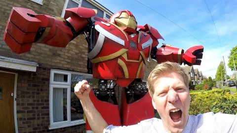 VIDEO: Inventor Builds Homemade Avengers Hulkbuster Suit From Stuff He Got Off eBay