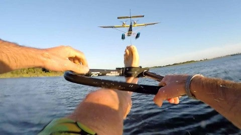 VIDEO: Airplane Barefoot Waterskiing Takes Water Sports To A Whole New Level