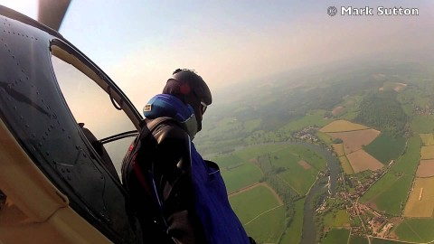 VIDEO: Guy In A Wingsuit Ditches Parachute, Chooses To Land On Cardboard Boxes Instead