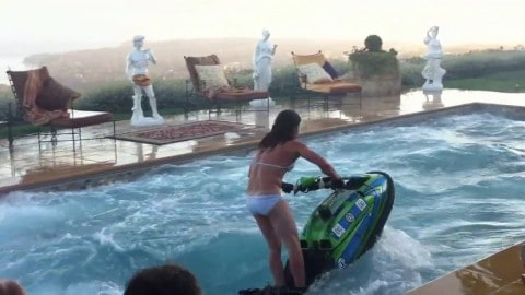 VIDEO: Jet Ski Swimming Pool Flips Show You Can Ride Anywhere And Everywhere