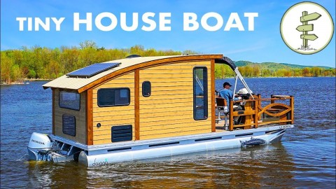 VIDEO: Incredible Tiny House Boat Is The Ultimate In Pontoon Living