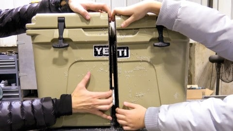 What's Inside A Yeti Cooler? This Father And Son Cut One Open To Find Out!