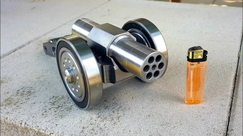 VIDEO: Six Barrel Mini Cannon Is A Desk Ornament You Don't Want To Mess With