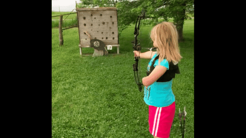 VIDEO: This 8-Year-Old Archer Won't Let Anything Slow Her Down