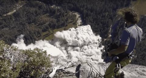 VIDEO: Climber Catches Massive Rock Slide At Yosemite National Park