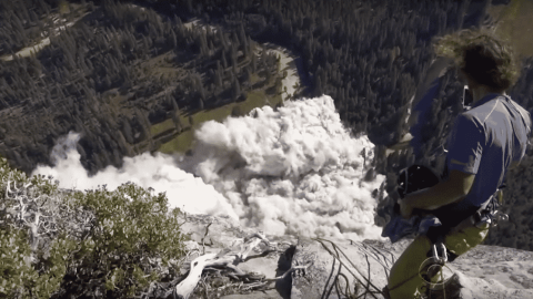 VIDEO: Climber Catches Massive Rock Slide At Yosemite National Park