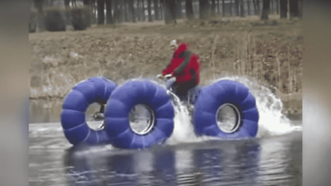 Homemade ATV Is As Capable On The Water As It Is On Land