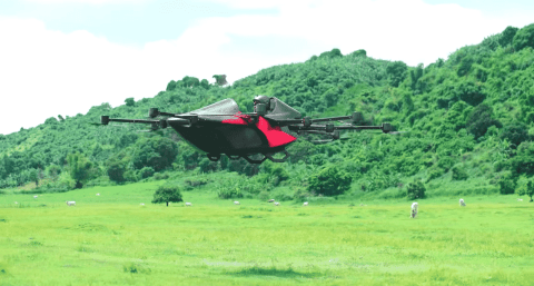 VIDEO: High-Flying Sports Car Looks Like A Giant Drone But It'll Get You Airborne