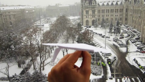 VIDEO: Guy Takes Paper Planes To The Next Level With Incredible Landing