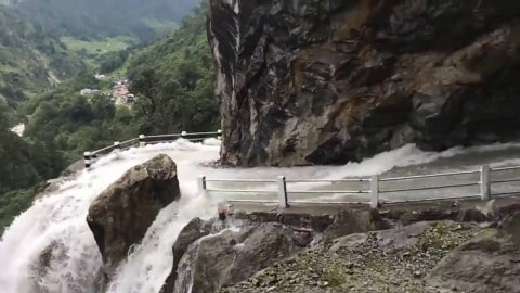 Road Takes Wet And Wild To A Whole New Level As It Goes Through A Waterfall