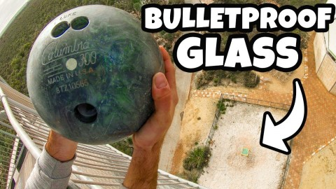Bulletproof Glass Can Stop Bullets But Will It Stop A Bowling Ball?