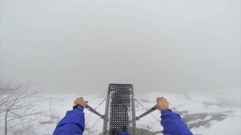 Base Jumping Is Infinitely Scarier When Jumping Off A Foggy Mountain