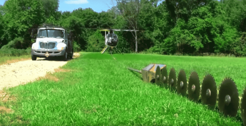 Watch What It Takes To Be A Helicopter Tree Saw Pilot