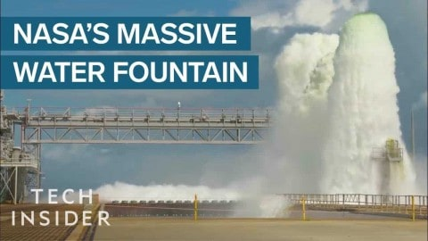 VIDEO: Here's Why NASA Shoots Out Half A Million Gallons Of Water When Launching A Rocket