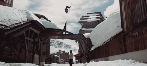 Who Needs Mountains When You Can Ski On Rooftops?