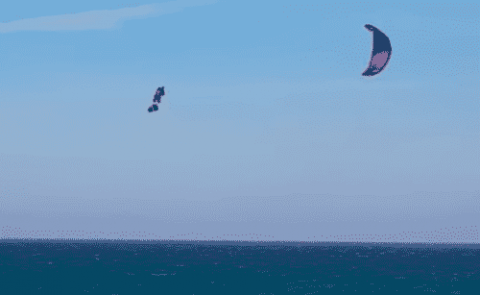 Going, Going, Gone: Kiteboarder Gets Insane Air