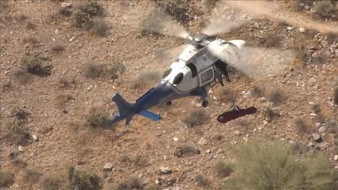 Helicopter Rescue Spins Woman Out Of Control