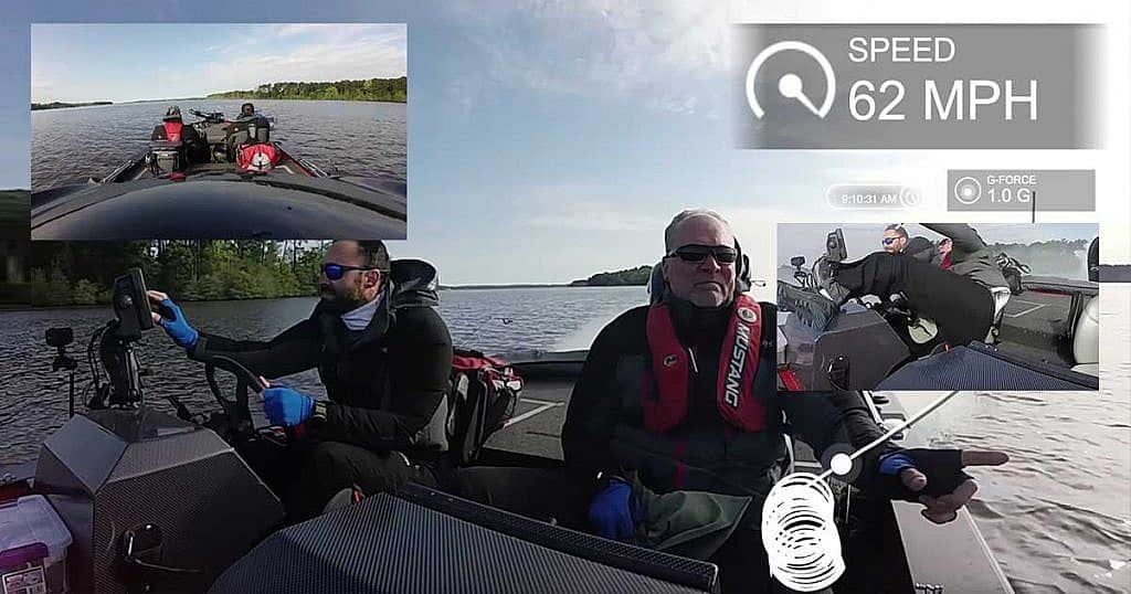 Anglers pictured right before falling out of runaway bass boat