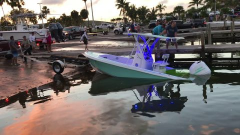 Flatbed Launch: Boat Sinks At Marina Ramp