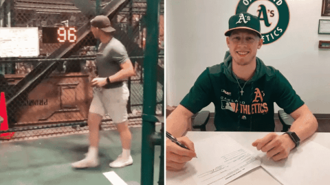 Oakland A's Sign Fan Who Threw 96 MPH Fastball At Speed Pitch Contest