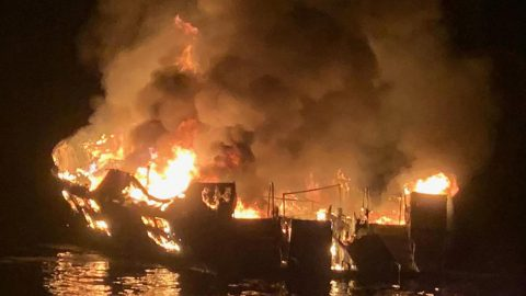 Tragic Boat Fire Leaves 25 Dead; 9 Others Still Missing As Coast Guard Searches
